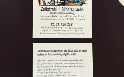 MO 12. April – SA 24. April 2021 interaktive Kunstaustellung «Zeitstrahl |Bildersprache» – SIMONE ZUBERBÜHLER